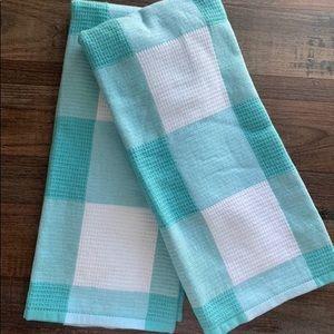 2 Farmhouse Buffalo check Kitchen towels